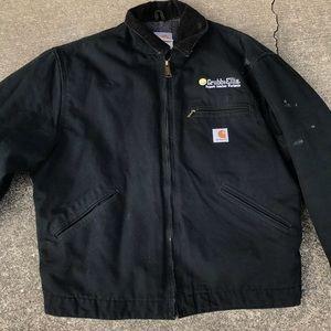 Carhartt work jacket lined size 44 black